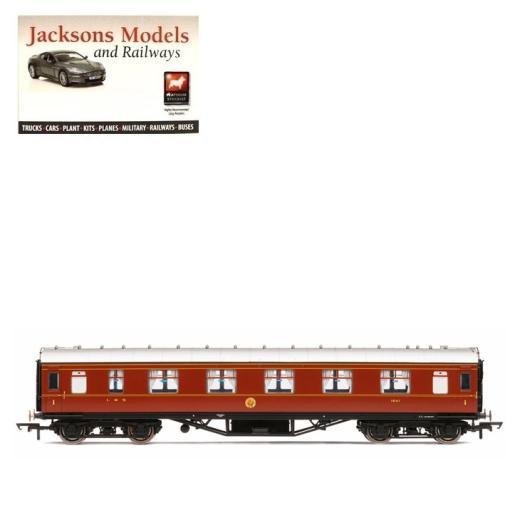 R4803 Hornby OO Gauge LMS Corridor 1st Class  coach 1041 Crimson Lake period  3