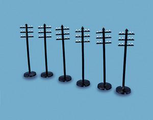 MODEL SCENE 5080 1:76 OO SCALE Telegraph Poles x 6