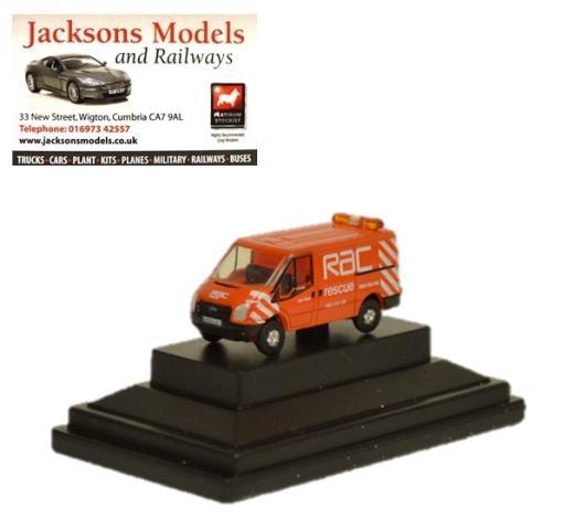 Oxford NFT003 N Gauge 1//148 Scale Ford Transit RAC Rescue Orange