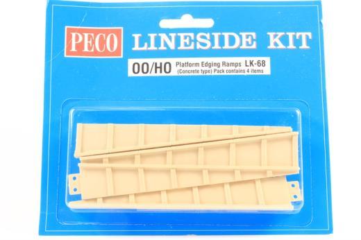 LK-68 Peco OO Gauge Platform Edging Ramps concrete type 2 pairs In Pack
