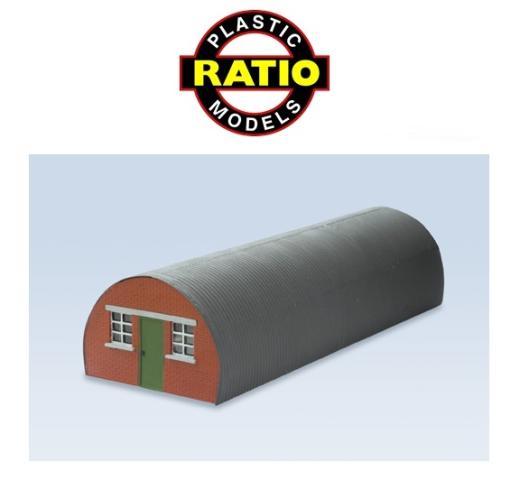 Kit Ratio 558 OO Gauge Nissen Hut Pair